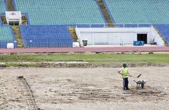 Bulgarian national stadium renovation Royalty Free Stock Photography