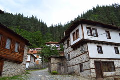 Bulgarian old mountain houses Royalty Free Stock Images