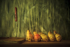 Bulgarian pear lying on a wooden table. Stock Photography