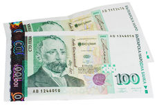 bulgarian pengar royaltyfria bilder