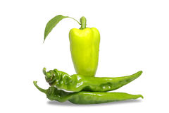 Bulgarian pepper and bitter pungent green Stock Photo