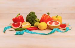 Fruits and vegetables for healthy eating and diets Stock Images