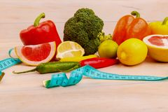 Fruits and vegetables for healthy eating Stock Photo