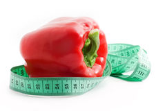 Bulgarian pepper and centimeter Royalty Free Stock Images