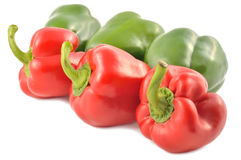 Bulgarian pepper on white background Royalty Free Stock Photo