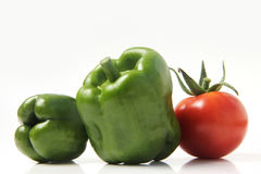 Bulgarian pepper and tomato Stock Image