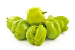 Bulgarian pepper on a white background Royalty Free Stock Photography