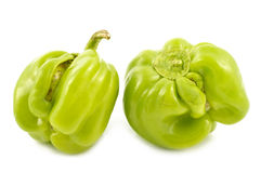 Bulgarian pepper on a white background Royalty Free Stock Images