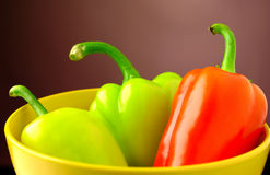 Bulgarian pepper on a wooden table Stock Image