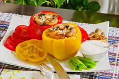 Bulgarian  Peppers stuffed Royalty Free Stock Images