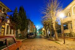 Bulgarian Pomorie. Night street royalty free stock images