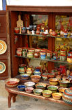 Bulgarian pottery. Traditional bulgarian pottery in a shop Royalty Free Stock Images