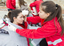 Bulgarian Red Cross Youth (BRCY) voluntary organization Royalty Free Stock Images