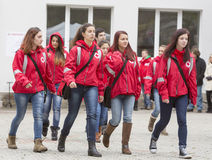 Bulgarian Red Cross Youth (BRCY) voluntary organization Royalty Free Stock Photo