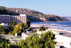 Bulgarian Resort Albena. Balchik in the Background. Stock Image