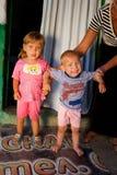 Bulgarian Roma gypsy children Royalty Free Stock Photos