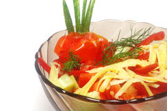 Bulgarian salad isolated Royalty Free Stock Image