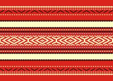 Bulgarian seamless decorative traditional national Stock Image