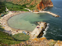 Bulgarian seaside in the north of Kaliakra cape royalty free stock photo