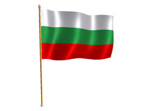 Bulgarian silk flag Stock Photo