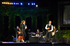 Bulgarian singers at concert stage Royalty Free Stock Photography