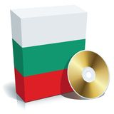 Bulgarian software box and CD Royalty Free Stock Images