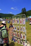 Bulgarian souvenir openair stand Royalty Free Stock Photos
