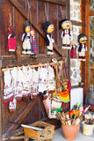 Bulgarian souvenirs on the wooden door Royalty Free Stock Photos