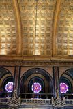 Bulgarian St. Stephen Church in Istanbul, Turkey. ISTANBUL, TURKEY - JUNE 03, 2018: Interior of Bulgarian St. Stephen Church. Church was built in 1870 royalty free stock images