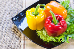 Bulgarian sweet pepper of red and yellow color Royalty Free Stock Image