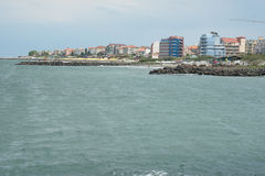 The Bulgarian town of Pomorie on the part of the Black Sea Stock Photo