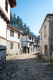 Bulgarian traditional houses. Old traditional houses  in ethnographic reserve of Shiroka Laka, Bulgaria Royalty Free Stock Photos