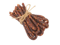 Bulgarian traditional sausage Bireni. Royalty Free Stock Photography