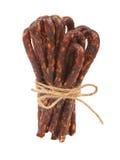 Bulgarian traditional sausage Bireni. Isolated on white Stock Photography
