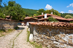 Bulgarian Village. Cobblestone street in historic Zheravna, Bulgaria Royalty Free Stock Photography