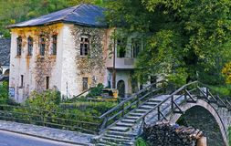 Bulgarian village. Old Bulgarian village in the Rodopy mountains royalty free stock photography