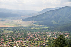 Bulgarian village at the foot of the Balkan Mountains Royalty Free Stock Photography