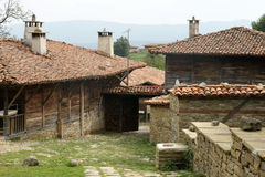 Bulgarian village - 25. Old village house in the Bulgarian mountains in autumn Royalty Free Stock Image