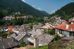Bulgarian village. Shiroka Laka in the mountain valley Stock Photo