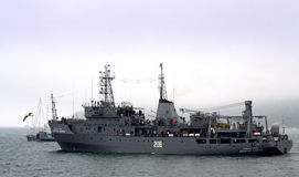 Bulgarian warship Royalty Free Stock Photography