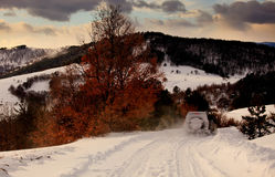 Bulgarian winter landscape Royalty Free Stock Photo
