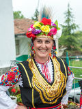 Bulgarian woman in festive national costume at the Nestinar Games Stock Image