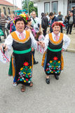 Bulgarian women in festive national dresses at the Nestinar Games Stock Image