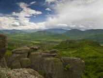 Bulgarian wonders-phenomenon of Belogradchik rocks Royalty Free Stock Photo