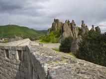Bulgarian wonders-phenomenon of Belogradchik rocks Stock Photos