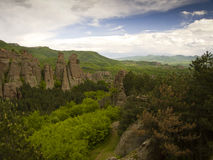 Bulgarian wonders-phenomenon of Belogradchik rocs Stock Photos