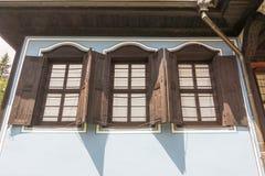 Bulgarian wooden architecture in Koprivshtitsa Stock Image