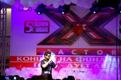Bulgarian X-factor winner performance Stock Photography