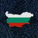 Bulgarienöversiktsflaggan förhäxer på kodillustrationen royaltyfri illustrationer