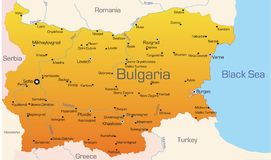 Bulgarien stock illustrationer
